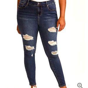 Torrid High-Rise Ultra Skinny Jeans Dark Wash 20R
